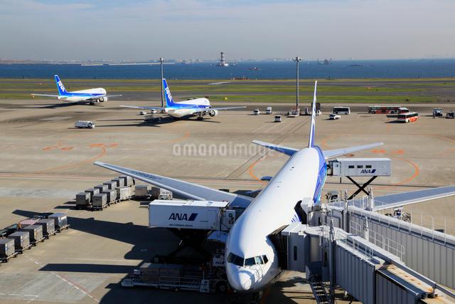 駐機中の旅客機の写真素材 [FYI01487410]