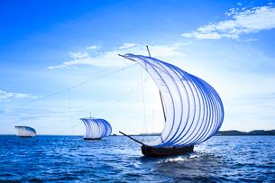 霞ヶ浦帆引き船の写真素材 [FYI01487609]