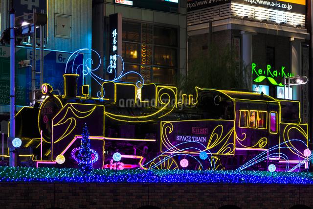 新橋駅前 SL広場のイルミネーションの写真素材 [FYI01487810]