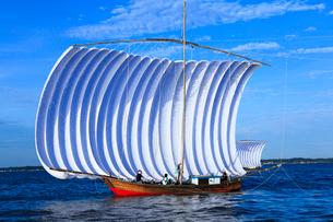 霞ヶ浦帆引き船の写真素材 [FYI01488067]