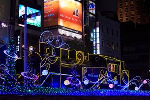新橋駅前 SL広場のイルミネーションの写真素材 [FYI01488150]