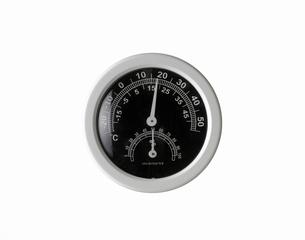 白い背景の温度計、湿度計の写真素材 [FYI01488634]