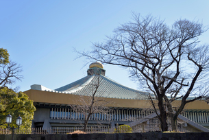 日本武道館と青空の写真素材 [FYI01488952]