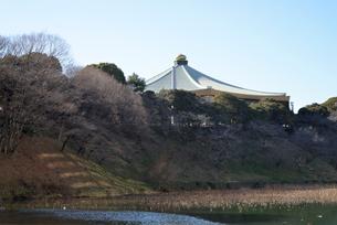 日本武道館と空の写真素材 [FYI01489400]