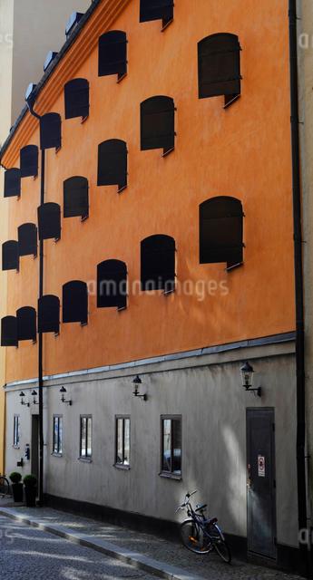 ストックホルムの旧市街の街並みの写真素材 [FYI01489562]