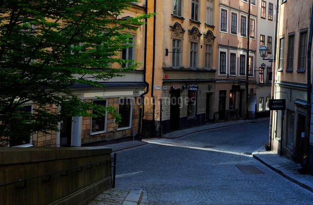 ストックホルムの旧市街の街並みの写真素材 [FYI01489704]
