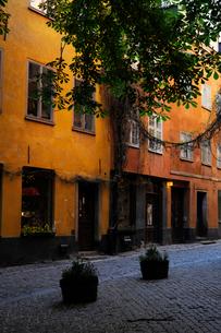 ストックホルムの旧市街の街並みの写真素材 [FYI01489713]