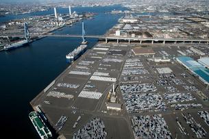 名古屋港で出荷待ちの新車の写真素材 [FYI01490075]