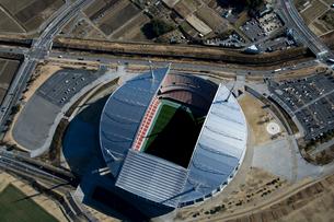 空撮:豊田スタジアムの写真素材 [FYI01490260]
