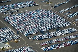 名古屋港 出荷待ちの車の写真素材 [FYI01490286]