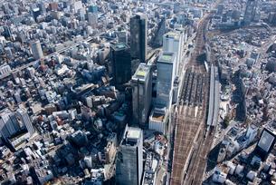 名古屋駅 空撮の写真素材 [FYI01490477]