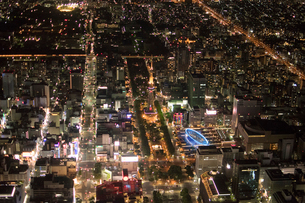 名古屋栄 夜景の写真素材 [FYI01490516]
