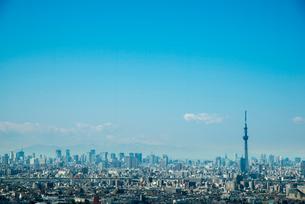 いちかわ ザ・タワーズ・ウエスト展望室から東京の街の写真素材 [FYI01490632]