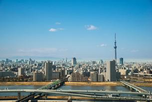 タワーホール船堀展望台から都市東京風景の写真素材 [FYI01491302]