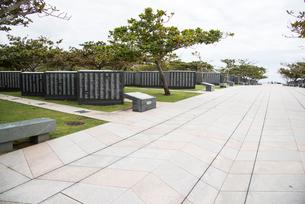 沖縄県平和祈念公園 平和の広場 メイン園路の写真素材 [FYI01493630]
