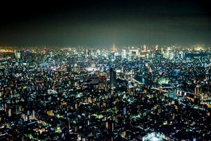 東京スカイツリー天望デッキより東京都心夜景の写真素材 [FYI01494224]