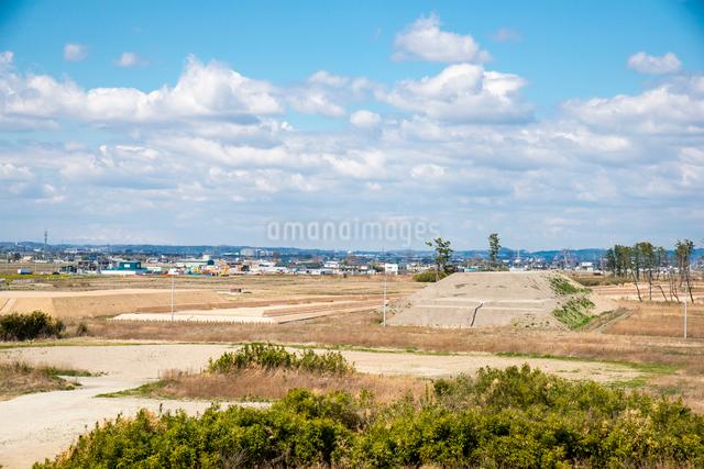 避難の丘より仙台市若葉区方面を望むの写真素材 [FYI01494842]