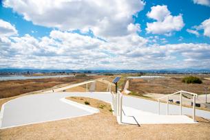 避難の丘より名取市市街地を望むの写真素材 [FYI01494986]