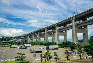 与島PAと瀬戸大橋の写真素材 [FYI01495285]