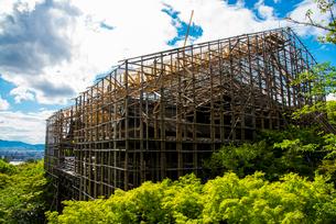 清水寺清水の舞台修復工事の写真素材 [FYI01495310]