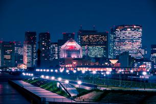 豊洲より東京夜景の写真素材 [FYI01495650]