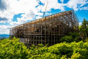 清水寺清水の舞台修復工事の写真素材 [FYI01495774]