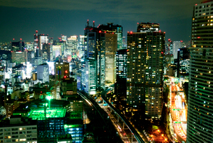東京都心夜景の写真素材 [FYI01495882]