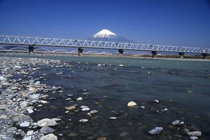 富士川と富士山の写真素材 [FYI01496081]