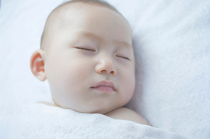 赤ちゃんの寝顔の写真素材 [FYI01498162]