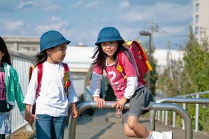 登下校中の小学生たちの写真素材 [FYI01498419]