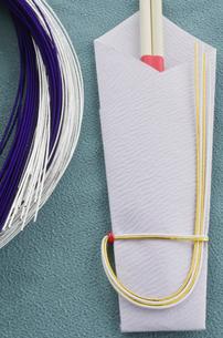 正月の祝い箸と水引きの写真素材 [FYI01498841]