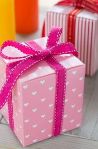バレンタインのギフトボックスの写真素材 [FYI01498852]