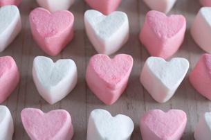 バレンタインのハートマシュマロの写真素材 [FYI01498885]
