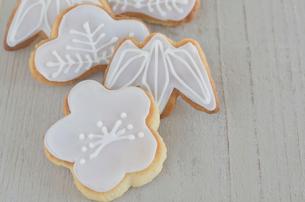 松竹梅の正月イメージクッキーの写真素材 [FYI01499063]