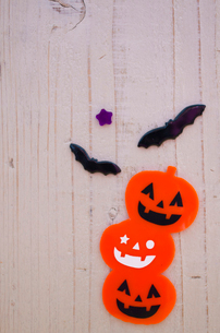 ジャックオーランタンのハロウィン雑貨の写真素材 [FYI01499151]