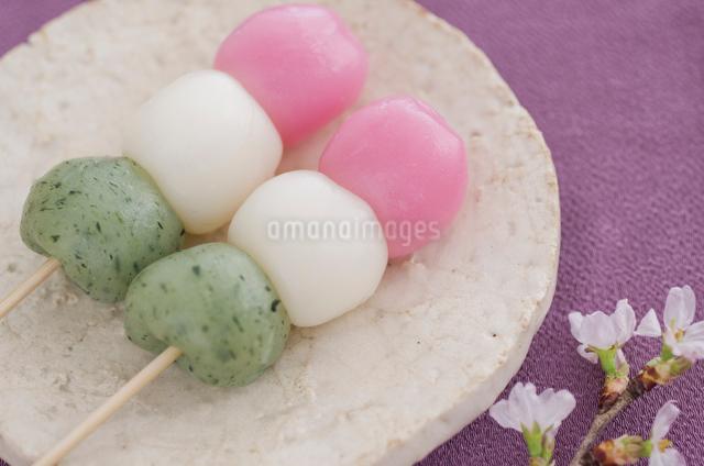 桜の花と三色団子の写真素材 [FYI01499359]