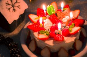 チョコレートクリスマスケーキの写真素材 [FYI01499378]
