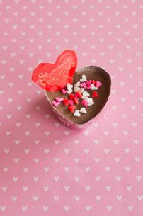 ハートのバレンタインチョコレートの写真素材 [FYI01499731]