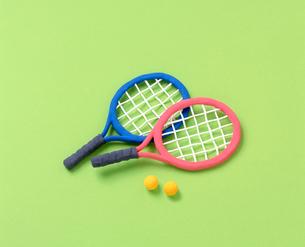 テニスラケットのクラフトの写真素材 [FYI01500210]