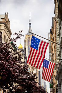星条旗とエンパイア・ステート・ビルの写真素材 [FYI01500427]