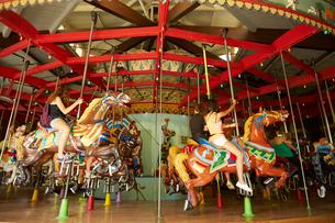 セントラルパークの回転木馬の写真素材 [FYI01500621]