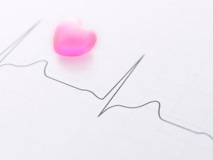 心電図とハートの写真素材 [FYI01502306]