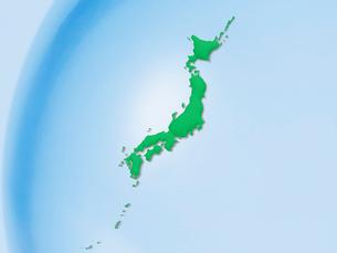 緑色の日本地図の写真素材 [FYI01502422]