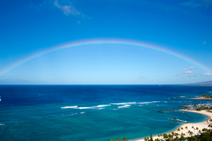 海と虹の写真素材 [FYI01502463]