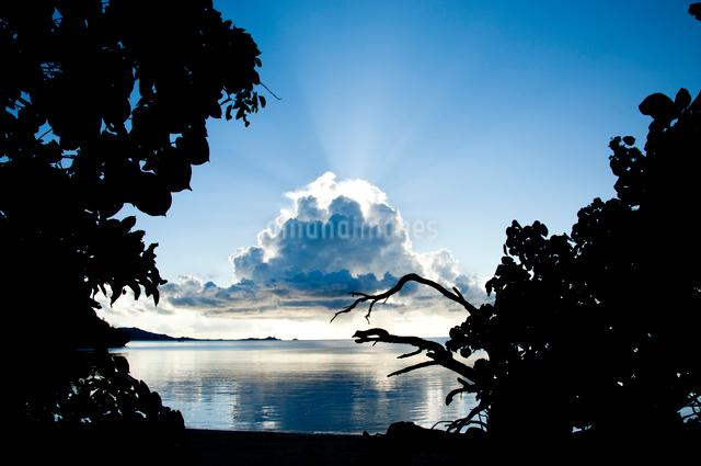 雲からの光の写真素材 [FYI01502527]