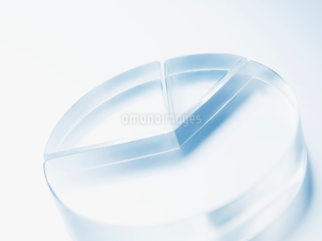 透明な円グラフの写真素材 [FYI01502589]