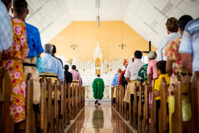トンガの教会の写真素材 [FYI01505148]