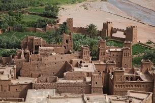 kasbah' (fortified houses)の写真素材 [FYI01505478]