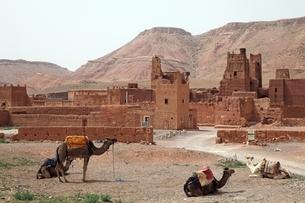 Tamdaght Kasbah (fortified houses)の写真素材 [FYI01505547]