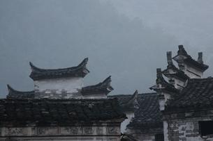 houses, architectural details, Yu Yuan, Zhejiang, Chinaの写真素材 [FYI01506119]